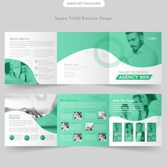 Projekt broszury trifold business square