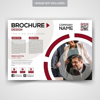 Projekt broszury ze stylową okładką magazynu