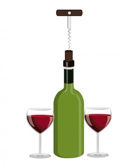 Projekt butelki wina.