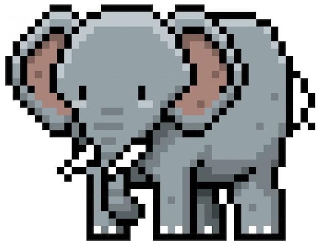 Projekt cartoon elephant pixel