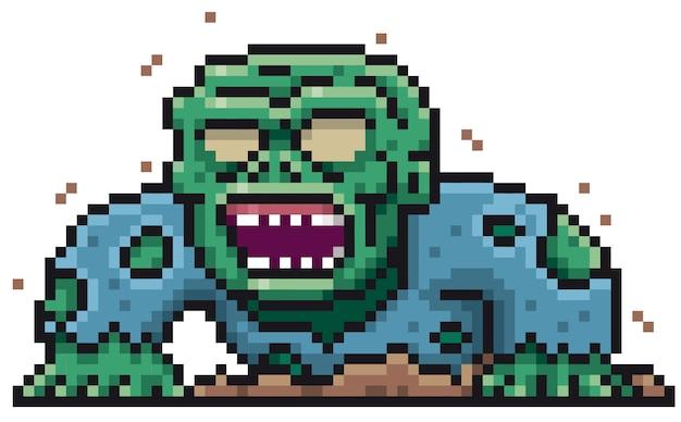 Projekt cartoon zombie pixel