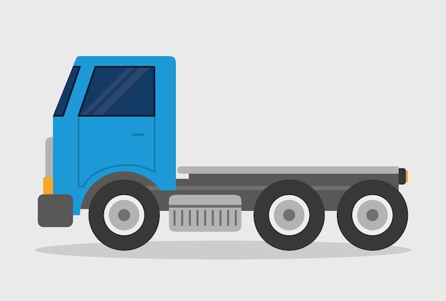 Projekt ciężarówki. ikona transportu. płaska ilustracja