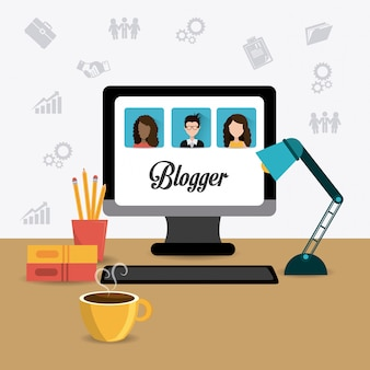 Projekt cyfrowy bloggera.