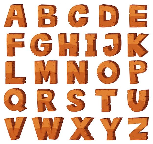 Projekt czcionki dla angielskich alfabetów o strukturze rocka
