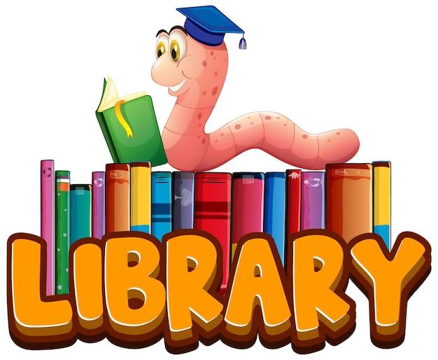 Projekt czcionki dla biblioteki słów z czytaniem mól książkowy