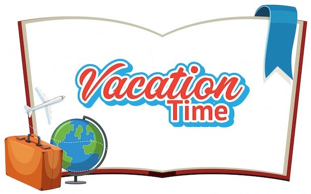 Projekt czcionki dla słowa wakacje czas z latania samolotem