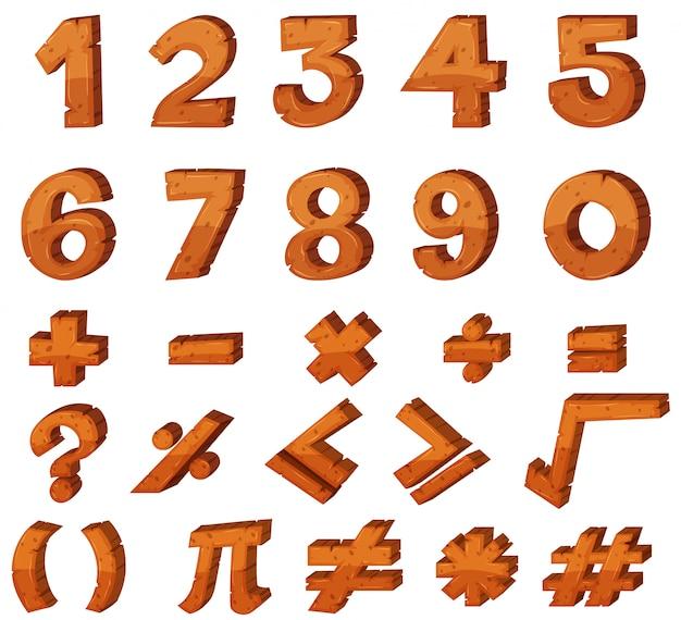 Projekt czcionki liczb