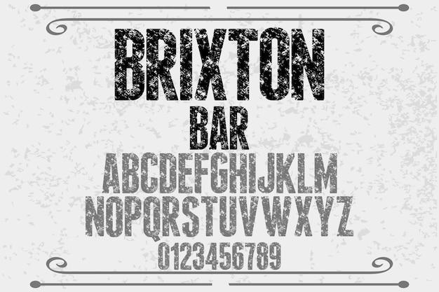 Projekt czcionki typografia vintage