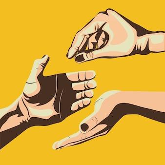 Projekt dłoni