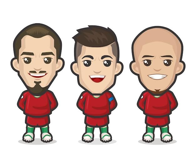 Projekt drużyny piłkarzy portugalii