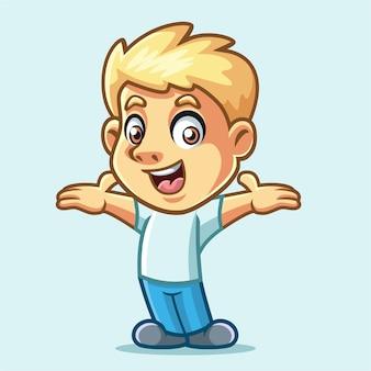 Projekt działalności chłopiec maskotka