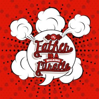 Projekt dzień ojców na czerwonym tle