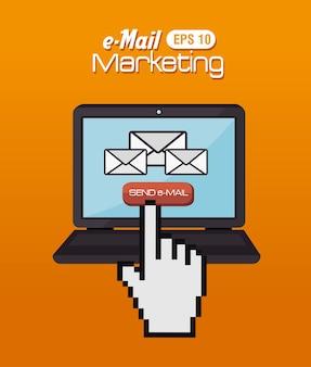 Projekt e-mail, ilustracji wektorowych.
