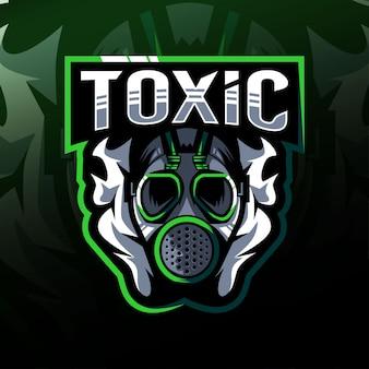 Projekt e-sportowy logo maskotki toksyczne