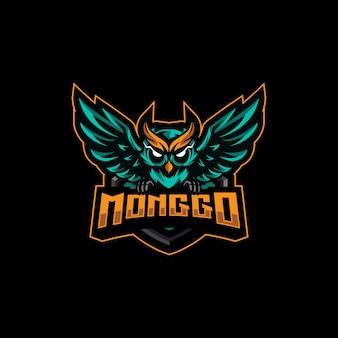 Projekt e-sportu z logo sowy