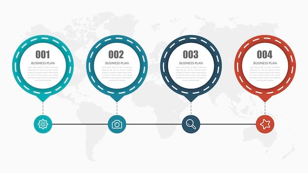 Projekt elementu infographic na osi czasu