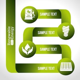 Projekt energii, ilustracji wektorowych.