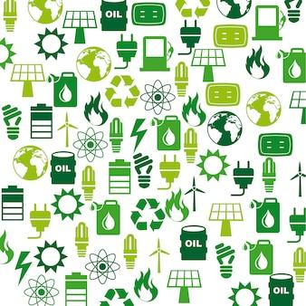Projekt energii na białym tle ilustracji wektorowych