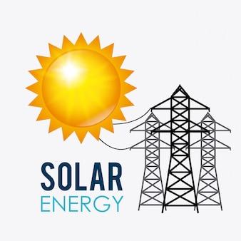 Projekt energii słonecznej.