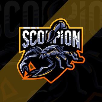 Projekt esport logo maskotki skorpiona