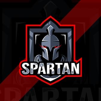 Projekt esport logo spartańskiej maskotki