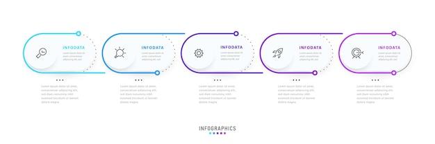 Projekt etykiety infografiki wektorowej