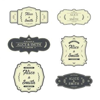 Projekt etykiety ślubnej