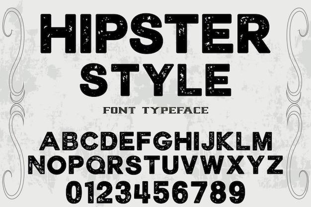 Projekt etykiety typografii hipster