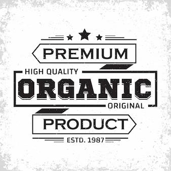 Projekt etykiety vintage produktów ekologicznych