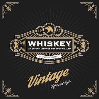 Projekt etykiety whiskey