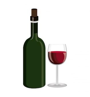 Projekt etykiety wina na białym tle