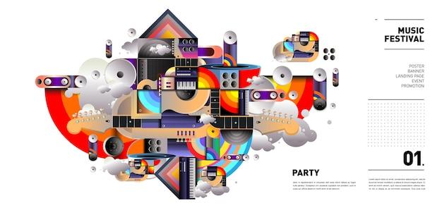 Projekt festiwalu muzyki na imprezę i wydarzenie