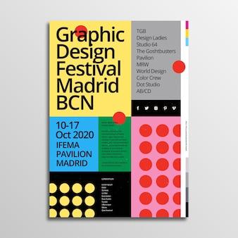 Projekt festiwalu szablon plakatu