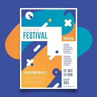 Projekt festiwalu szablon ulotki