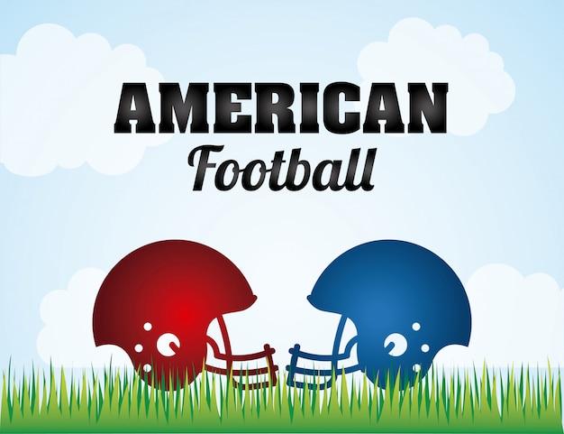 Projekt futbolu amerykańskiego, ilustracji wektorowych grafika eps10