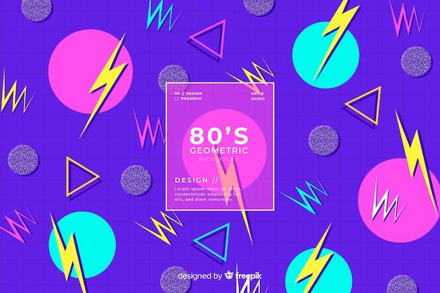 Projekt geometryczny tło z lat 80-tych w stylu retro
