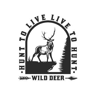Projekt godła polowania na jelenie