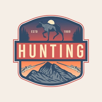Projekt godła polowania na łosia
