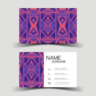 Projekt gradientu fioletowy wizytówki.