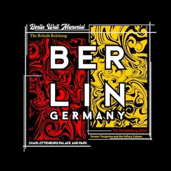 Projekt graficzny berlińskiej koszulki w abstrakcyjnym stylu ilustracja wektorowa