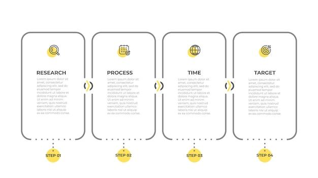 Projekt graficzny etykiety informacji biznesowych z elementami ikon