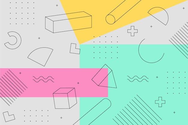 Projekt graficzny geometryczne tło koncepcji