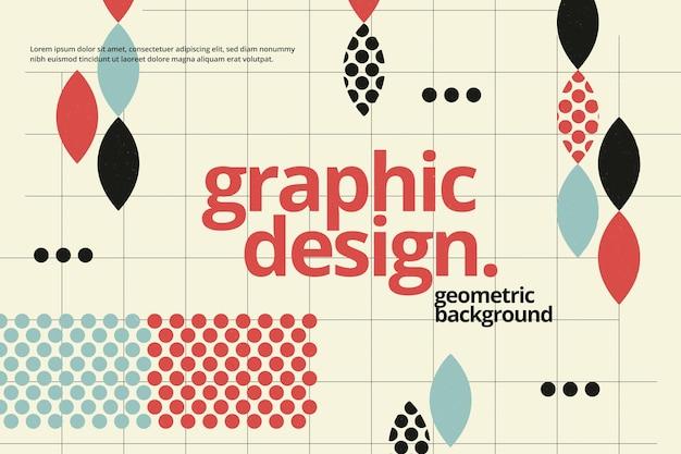 Projekt graficzny geometryczne tło