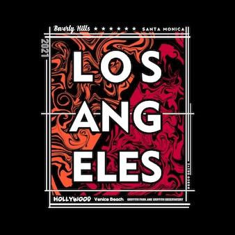 Projekt graficzny koszulki i plakatu los angeles w stylu abstrakcyjnym ilustracja wektorowa