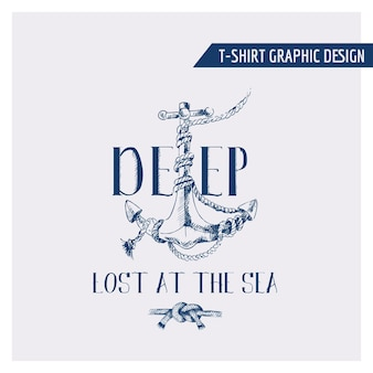 Projekt graficzny kotwicy morskiej