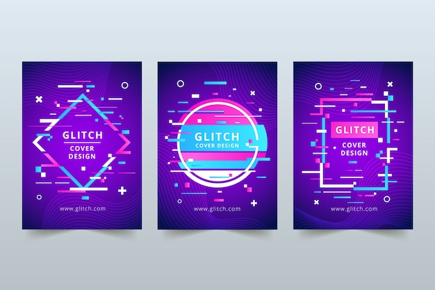 Projekt graficzny okładki glitch