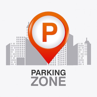 Projekt graficzny strefy parkingowej