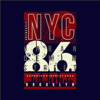 Projekt graficzny typografii ulicznej nyc urban denim