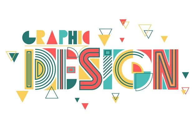 Projekt graficzny w geometryczne litery