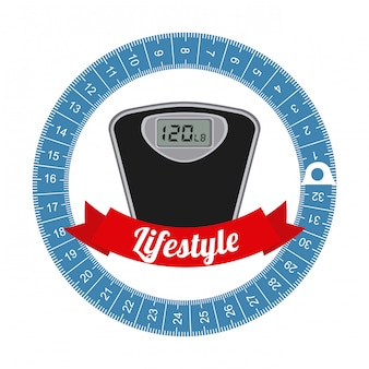 Projekt graficzny zdrowego stylu życia